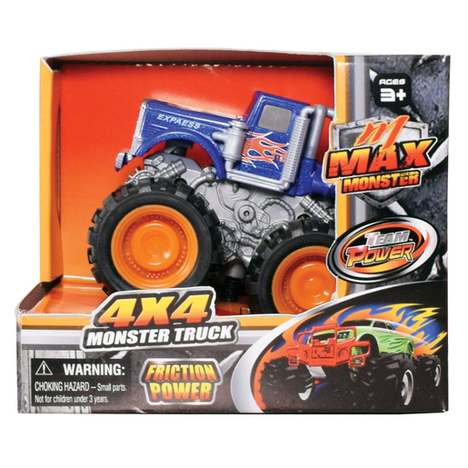 Team Power 9cm Max Monster Truck - Dark Blue
