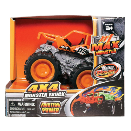 Team Power 9cm Max Monster Truck - Orange