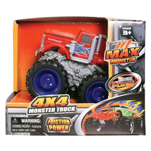 Team Power 9cm Max Monster Truck - Red