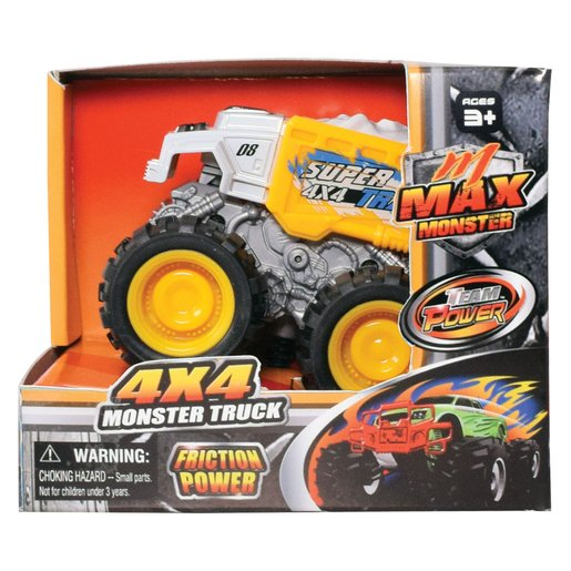 Team Power 9cm Max Monster Truck - Yellow