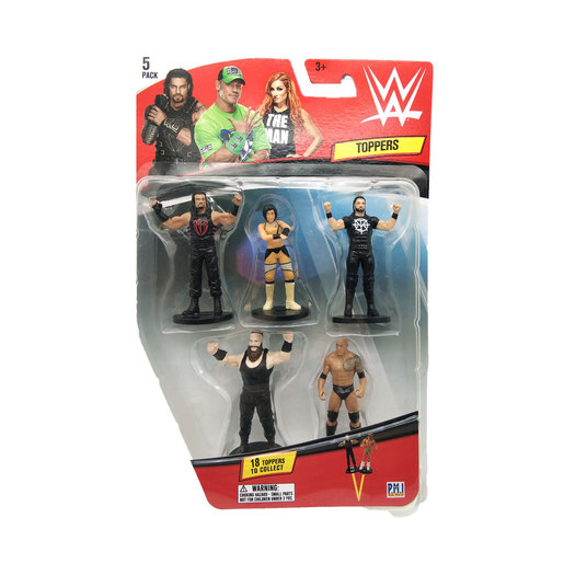 WWE Topper Figures 5 Pack (Styles Vary)