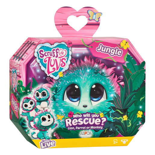 Scruff-a-Luvs Jungle Rescue Pet (Styles Vary)