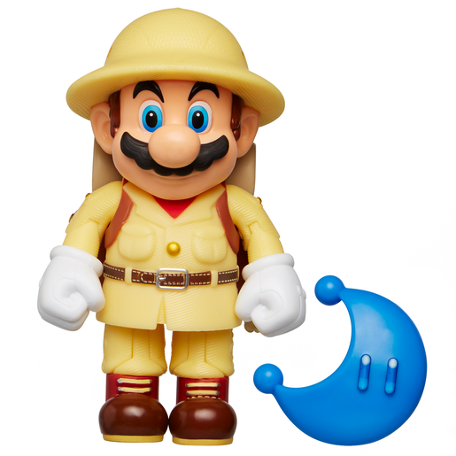 Super Mario Figure - Explorer Mario with Blue Power Moon