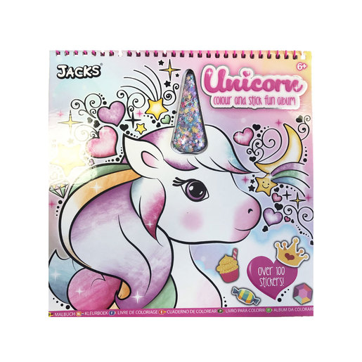 Jacks Unicorn Colouring and Sticker Book