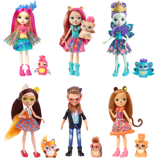 Enchantimals Natural Friends Doll Collection - 6 Pack