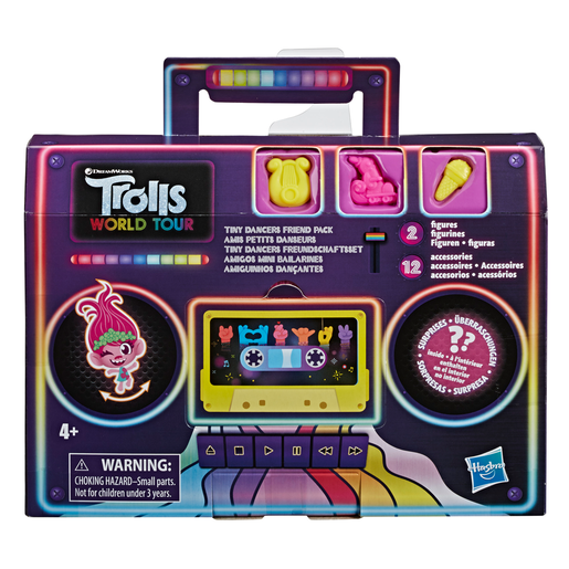 DreamWorks Trolls World Tour - Tiny Dancers Friend Pack Figures (Styles Vary)