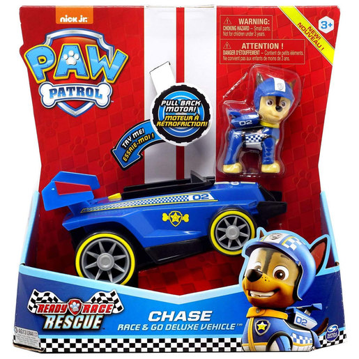 Paw Patrol Ready Race Rescue Race and Go Deluxe Vehicle - Chase