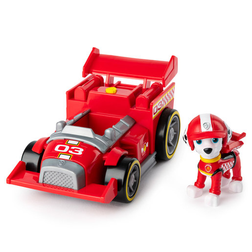 Paw Patrol Ready Race Rescue Race and Go Deluxe Vehicle - Marshall