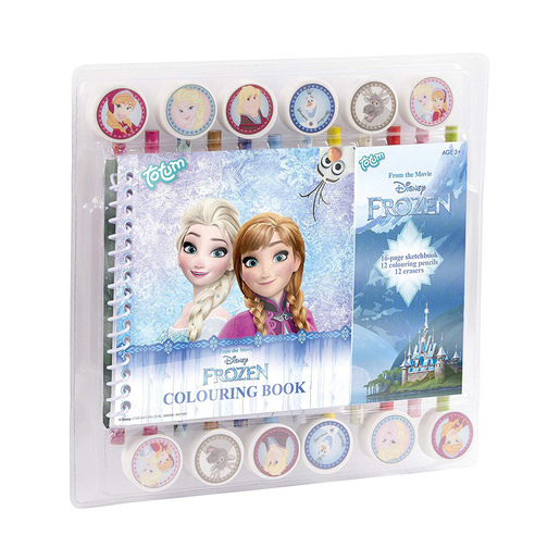 Disney Frozen 2 Colouring Pad, Pencils and Erasers