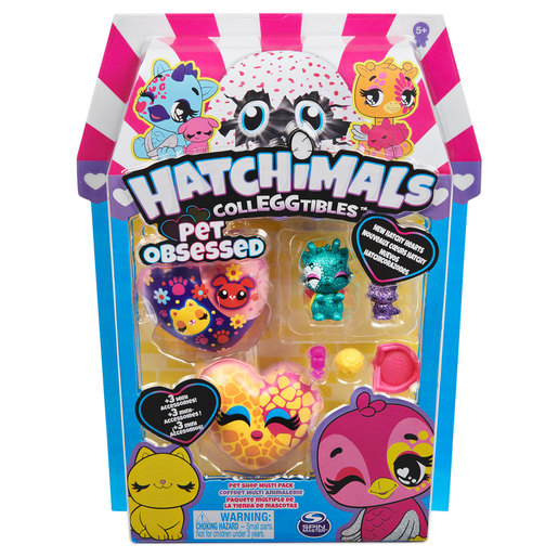 Hatchimals CollEGGtibles Pet Obsessed Pet Shop Multi-Pack (Styles Vary)