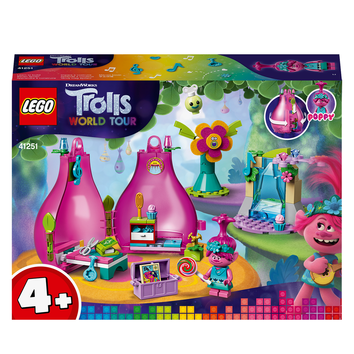 Lego Dreamworks Trolls World Tour Poppy S Pod 41251 The