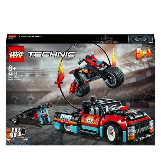 LEGO Technic 2-in-1 Stunt Show Truck & Bike - 42106