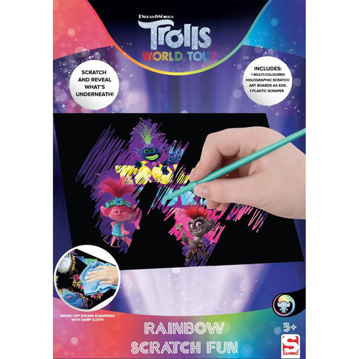 DreamWorks Trolls World Tour Rainbow Scratch Fun