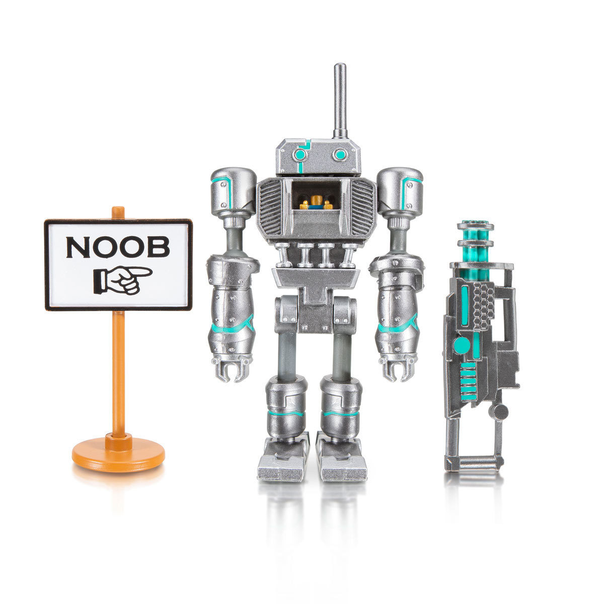 Lego Robot Roblox Noob Roblox Imagination Figure Noob Attack Mech Mobility The Entertainer
