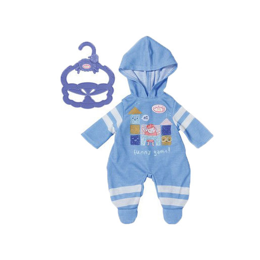 Baby Annabell 36cm Doll Outfit - Blue Onesie
