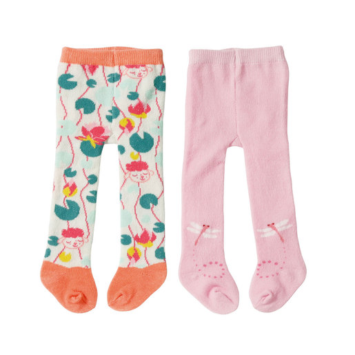Baby Annabell Tights 2 Pack For 43cm Doll - Pink and Peach