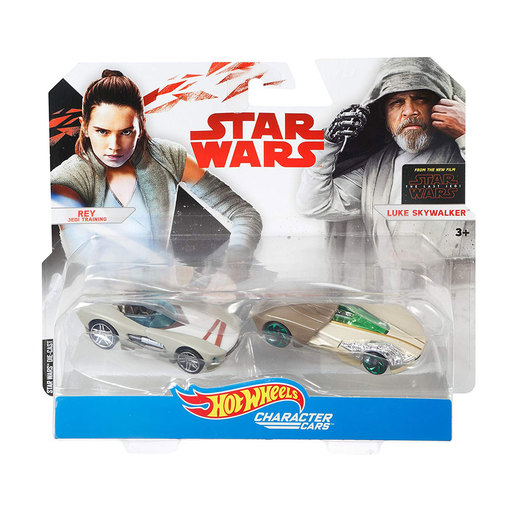 Hot Wheels Star Wars Character Cars - Rey and Luke Skywalker from TheToyShop