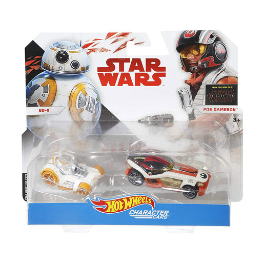 Hot Wheels Star Wars Character Cars -BB-8 and Poe Dameron