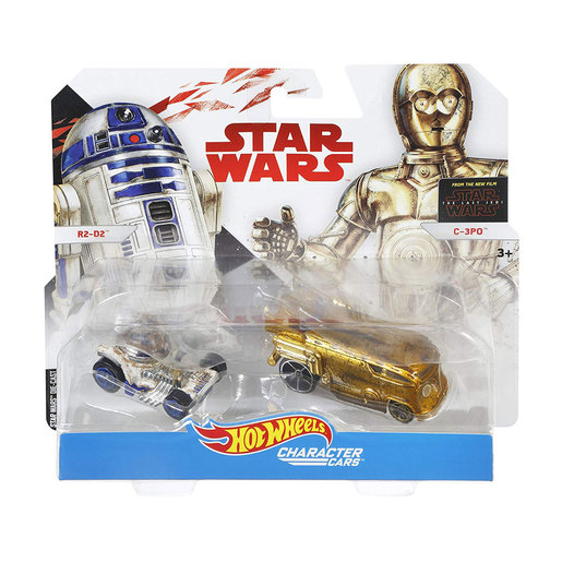 Hot Wheels Star Wars Character Cars - R2-D2 and C-3PO