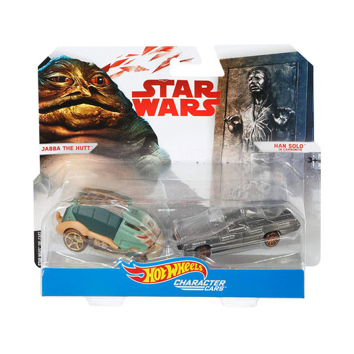 Hot Wheels Star Wars Character Cars - Jabba The Hutt and Han Solo