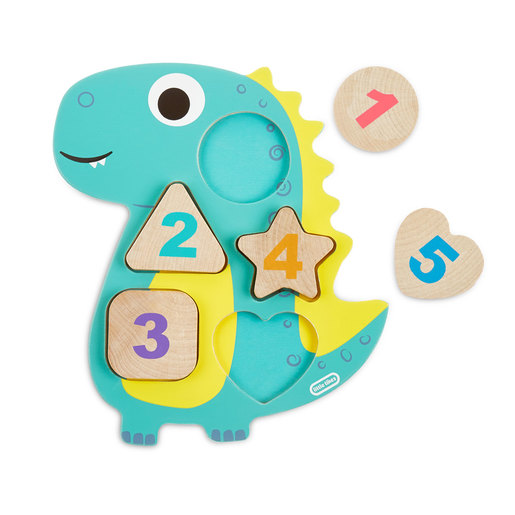 Little Tikes Wooden Critters Dino Number Puzzle