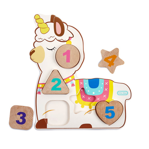 Little Tikes Wooden Critters Llama-Corn Number Puzzle Assortment
