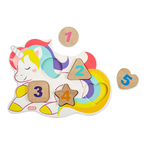 Little Tikes Wooden Critters Unicorn Number Puzzle
