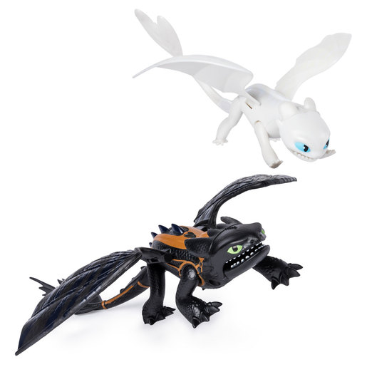 DreamWorks Dragons Legends Evolved Figures - Toothless and Lightfury
