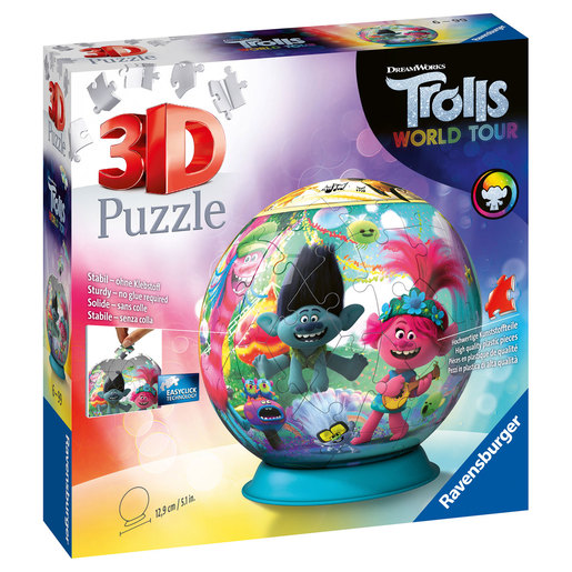 Ravensburger DreamWorks Trolls World Tour 3D Puzzle - 72pcs.