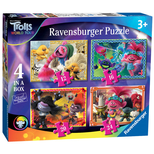 Ravensburger DreamWorks Trolls World Tour 4 In A Box