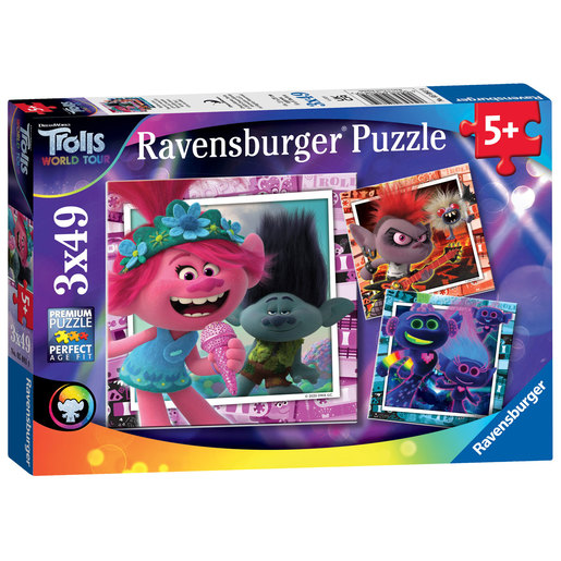 Ravensburger DreamWorks Trolls World Tour 3 In A Box Puzzle