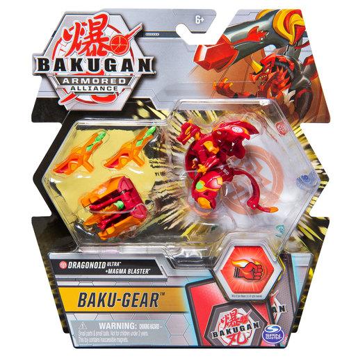 Bakugan Armoured Alliance Baku-Gear - Dragonoid Ultra and Magma Blaster
