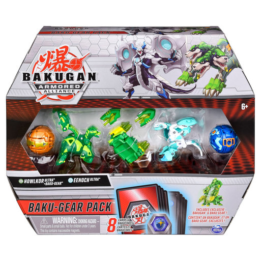 Bakugan Armoured Alliance Baku-Gear Pack - Howlkor and Eenoch from TheToyShop