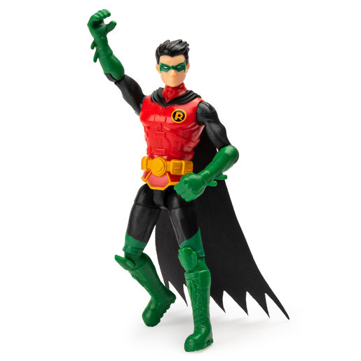DC Comics The Caped Crusader 10cm Figure with 3 Mystery Accessories - Robin