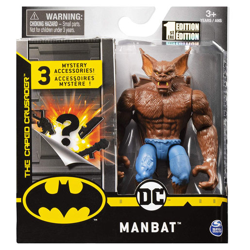 DC Comics The Caped Crusader 10cm Figure with 3 Mystery Accessories - Manbat