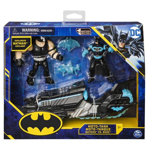 DC Comics Batman   Moto Tank & 10cm Action Figures Bane Vs Batman