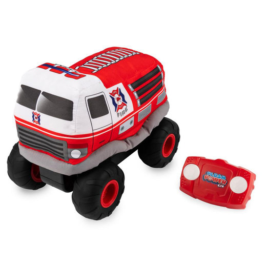 Plush Power Remote Control Plush Fire Engine