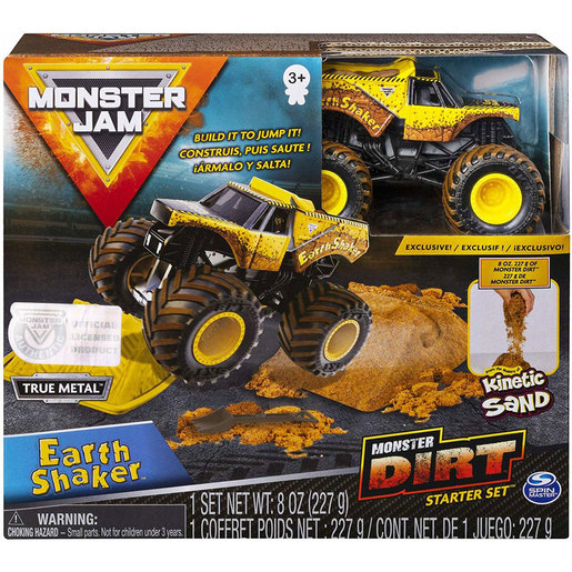 Monster Jam Kinetic Sand Monster Dirt Starter Pack - Earth Shaker