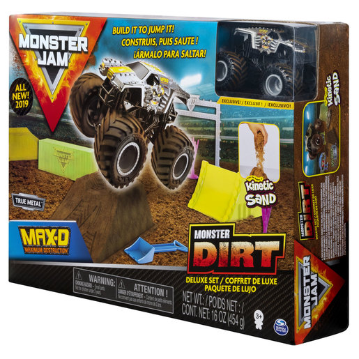 Monster Jam Kinetic Sand Monster Dirt Deluxe Pack - Max D