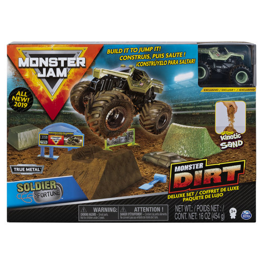 Monster Jam Kinetic Sand Monster Dirt Deluxe Pack - Soldier Fortune