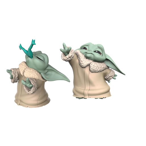 Star Wars The Mandalorian The Bounty 5.5cm Collectible Figures - The Child (Froggy Snack and Force Moment Figure)