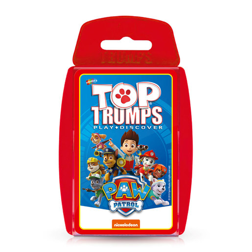 Paw Patrol Trop Trumps Card Game