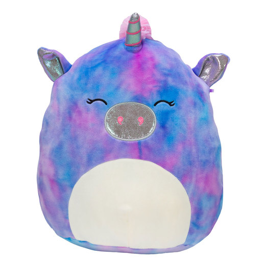 Squishmallows 30cm Super Soft Toy - Aurora the Purple Galaxy Unicorn