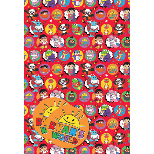 Ryans Worlds Wrapping Paper - 2 Sheets and 2 Tags