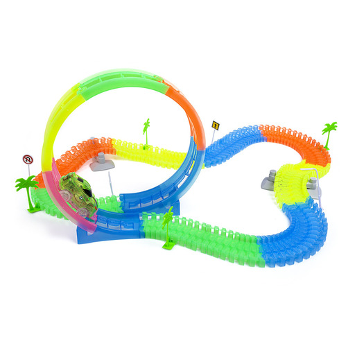 Jacks Flexible Glow Tracks 360 Loop - Over 160 Pieces
