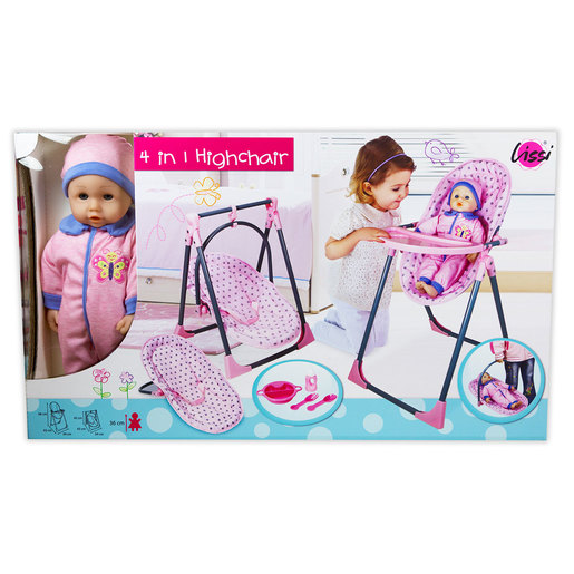 Lissi 4-In-1 Baby Highchair and Doll