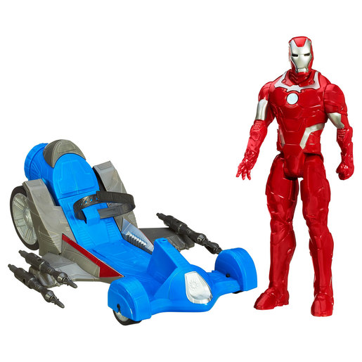 Marvel Avengers Initiative - Iron Man Figure with Battle Racer