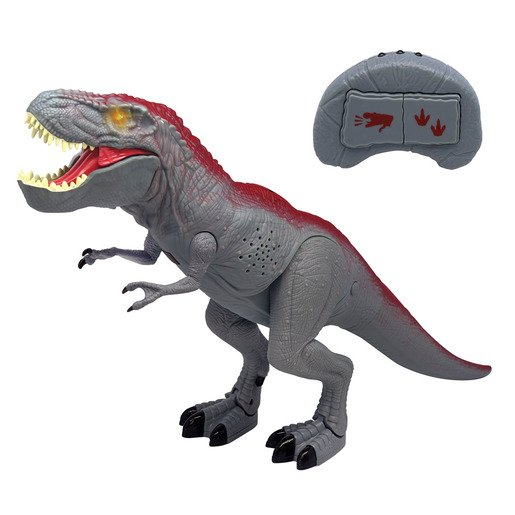 Mighty Megasaur 30cm Walking Dinosaur - Grey T-Rex