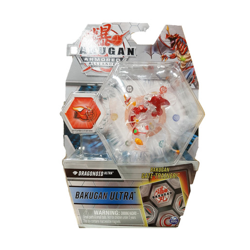 Bakugan Armored Alliance Ultra Trading Card and Figure - Dragonoid (Clear)