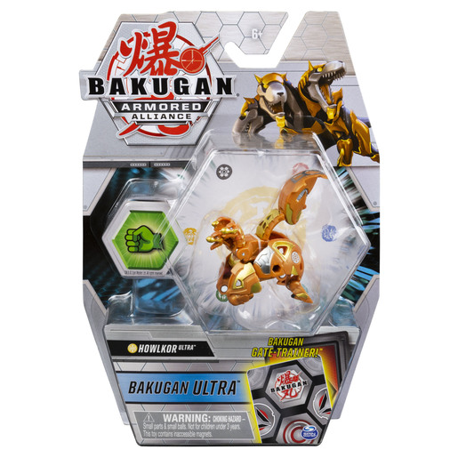 Bakugan Armored Alliance Ultra Trading Card and Figure - Howklor (Gold)